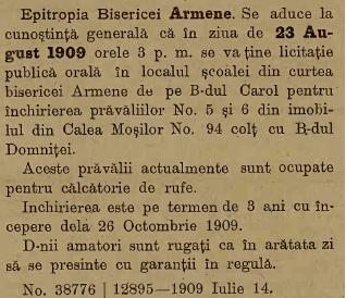 Biserica Armeneasca - 1909